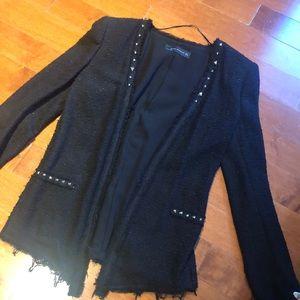 Zara black studded blazer